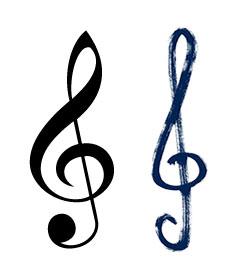 Zwei Violinschlüssel