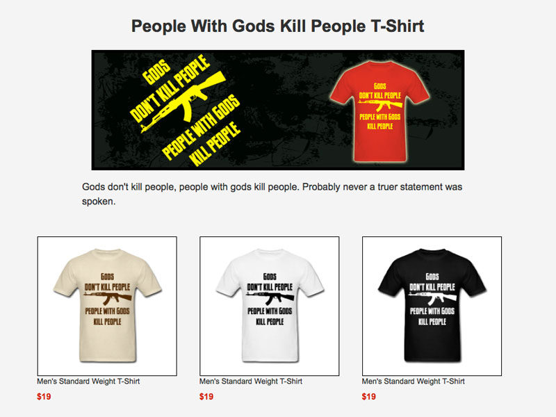 T-Shirt · Gods Don't Kill People
