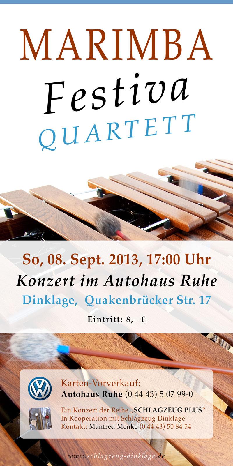 Flyer · Marimba-Konzert