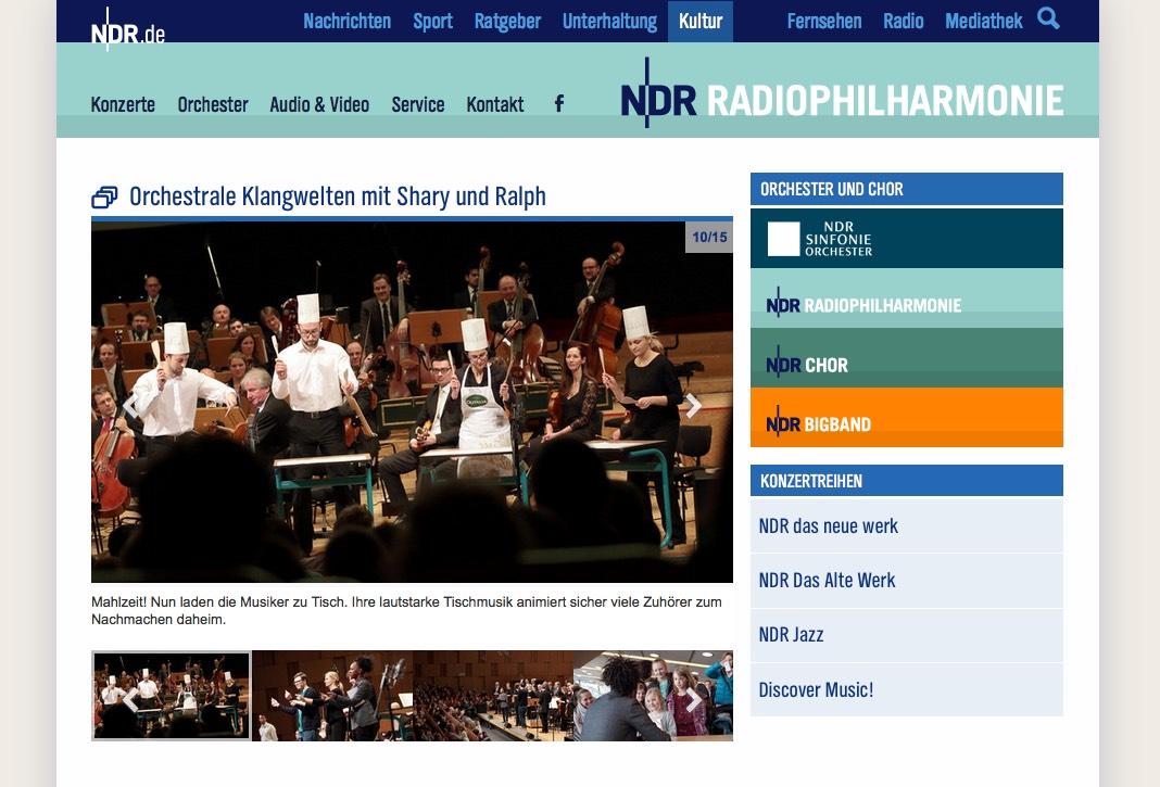 Eine kleine Tischmusik beim Konzert der NDR-Radiophilharmonie am 26. Februar 2016