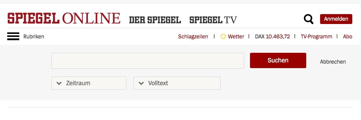 Suchfunktion · Spiegel Online