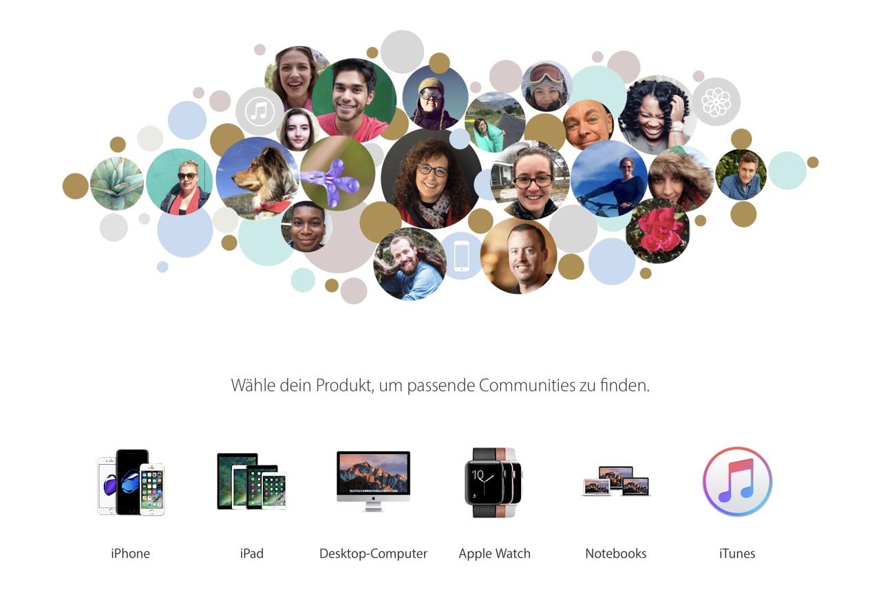 Bildschirmfoto · Apple Support Community