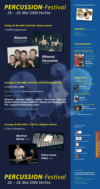 Percussion-Festival Vechta · Plakat 2006