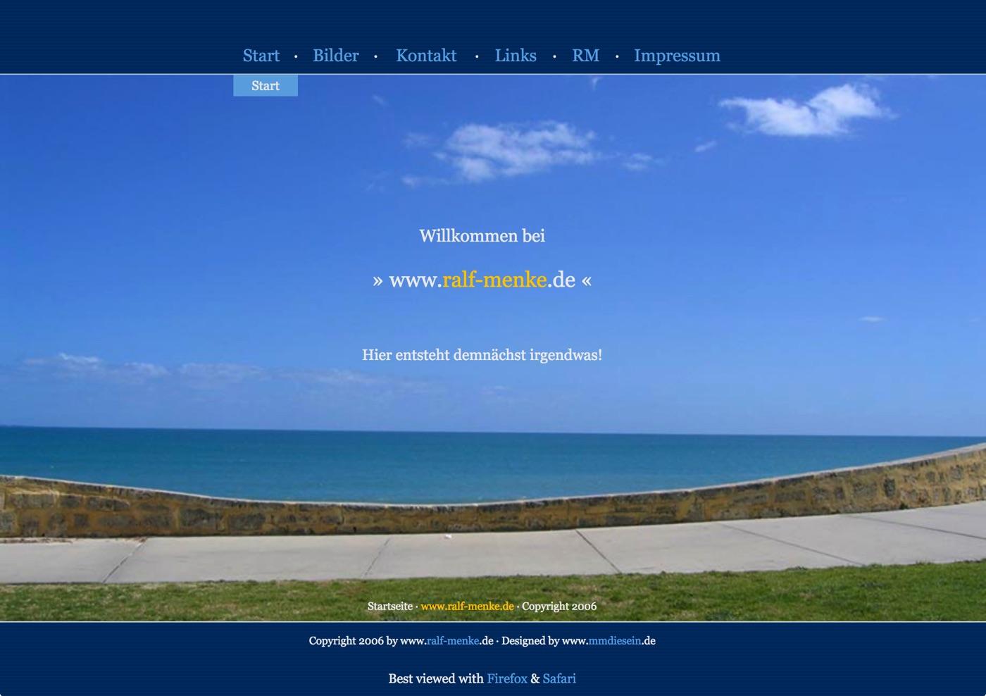 Ralf Menke · Homepage-Entwurf 2005