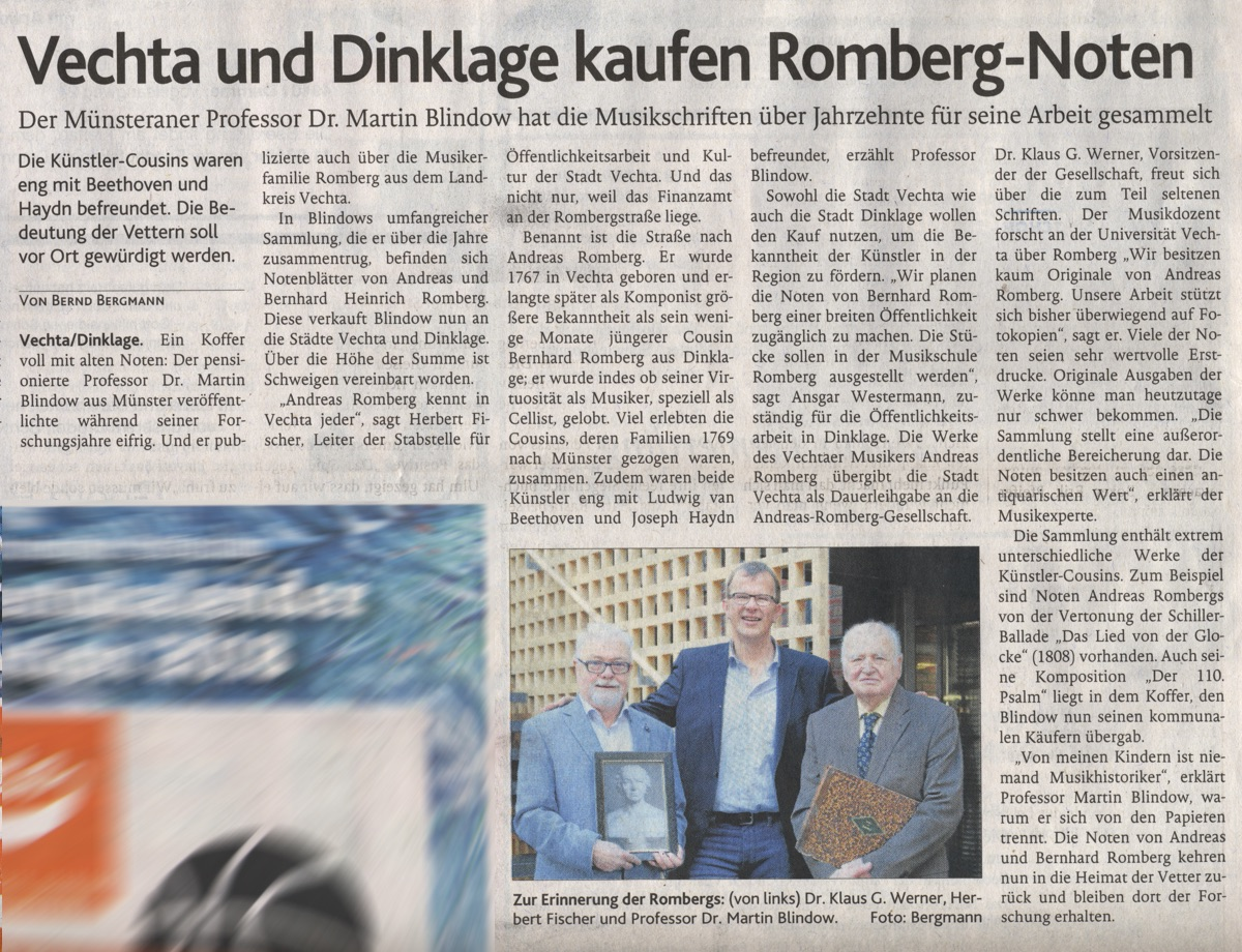 Artikel in der Oldenburgischen Volkszeitung am 17. Dezember 2018
