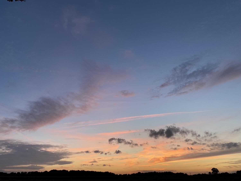 Abendhimmel in Dinklage am 13. August 2021