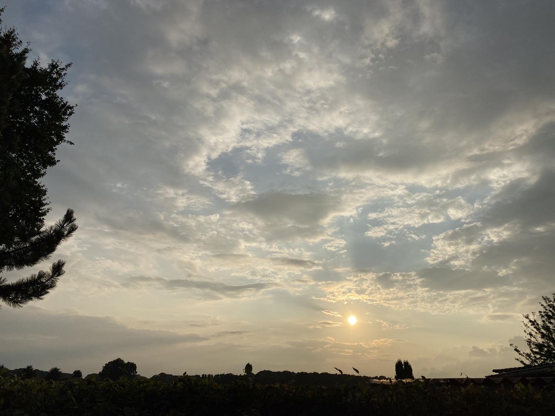 Abendhimmel in Dinklage am 20. August 2021