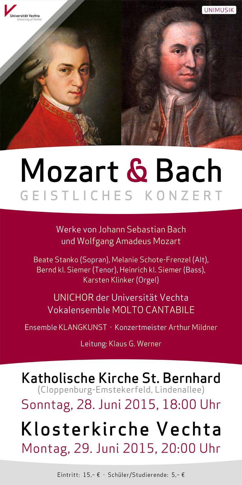 Mozart & Bach · UNIMUSIK · Universität Vechta