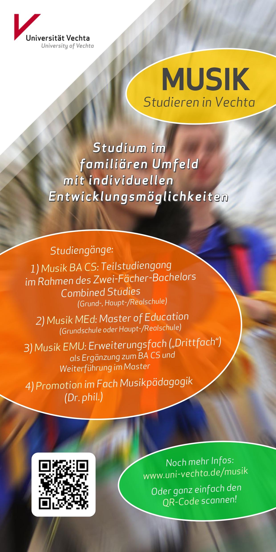 Flyer · Musik studieren in Vechta