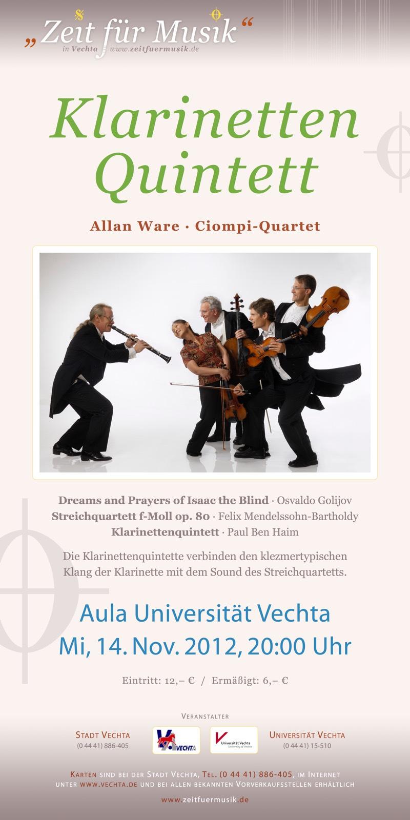 Klarinettenquintett · Zeit für Musik