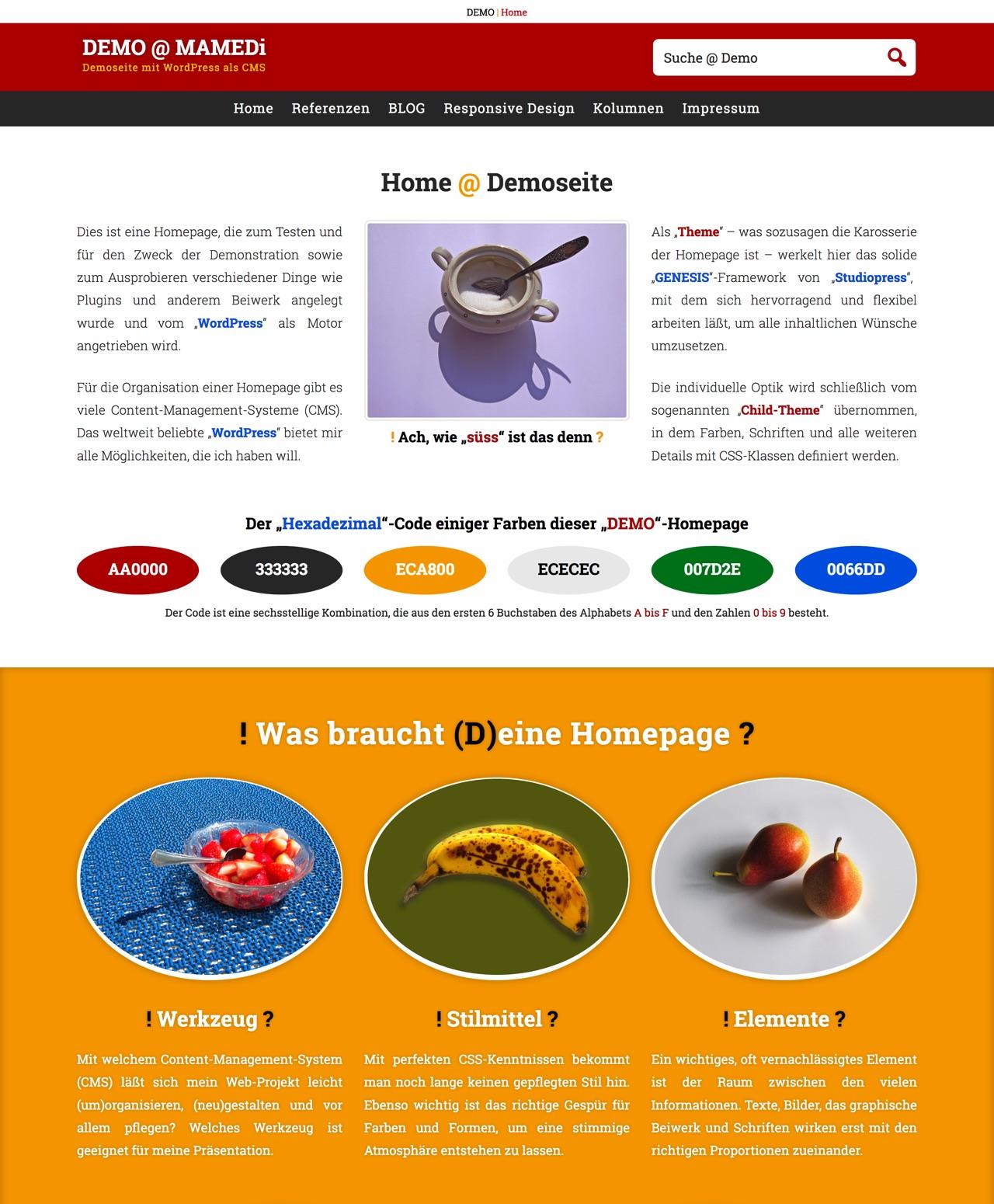 DEMO-Homepage