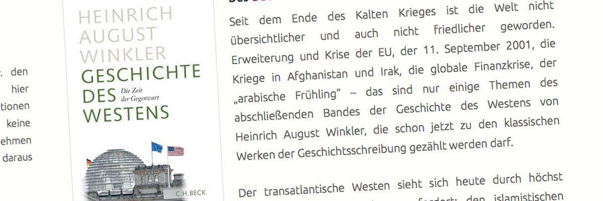"""Buch · """"Geschichte des Westens"""""""