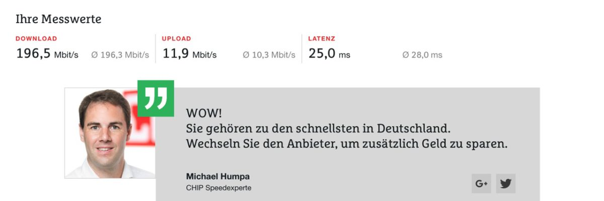 Internet / Speedtests ohne Flash