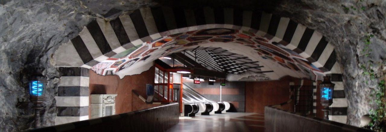 Unterirdische Kunst in Stockholm